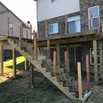 A deck and stairs that are framed out and ready for installation in Commerce MI
