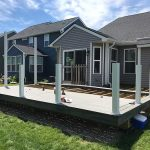 Custom deck being installed in Commerce MI