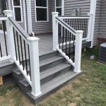 Stairs leading to a custom built deck in Novi MI