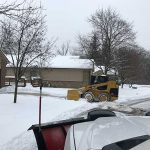 Residental snow plowing services by Images Landscaping in Northville MI