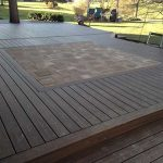 Custom decking with a paver inset in West Bloomfield MI