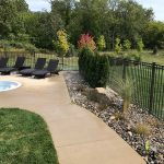Rocks used in landscaping to maintain weed growth in Northville MI
