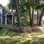 Landscapers beginning the installation of a new landscape project in Commerce MI