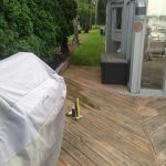 An old deck before being replaced by the experts at Images Landscaping in West Bloomfield MI