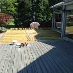 A partially completed deck in Northville MI