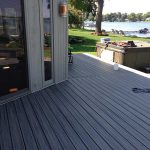 Newly completed deck in Commerce MI
