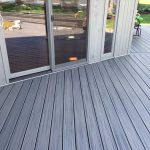 Close up of an installed deck in Commerce MI