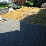 A deck partially built on a home in West Bloomfield MI