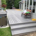 A home with a deck that close to completion in Novi MI