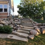 Use stone to create steps that blend into your existing landscaping in Northville MI