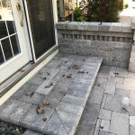 Custom paver patio and step in Novi MI