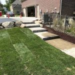 Paver steps as a part of your overall landscaping to help transitions in level changes in Novi MI