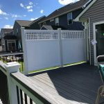 Privacy panels on a custom deck in South Lyon MI