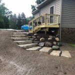 Newly installed stone steps in Northville MI