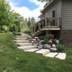 Stone steps add to the beauty of your landscaping in Novi MI