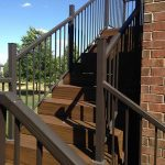Stair as a part of a custom deck in Commerce MI
