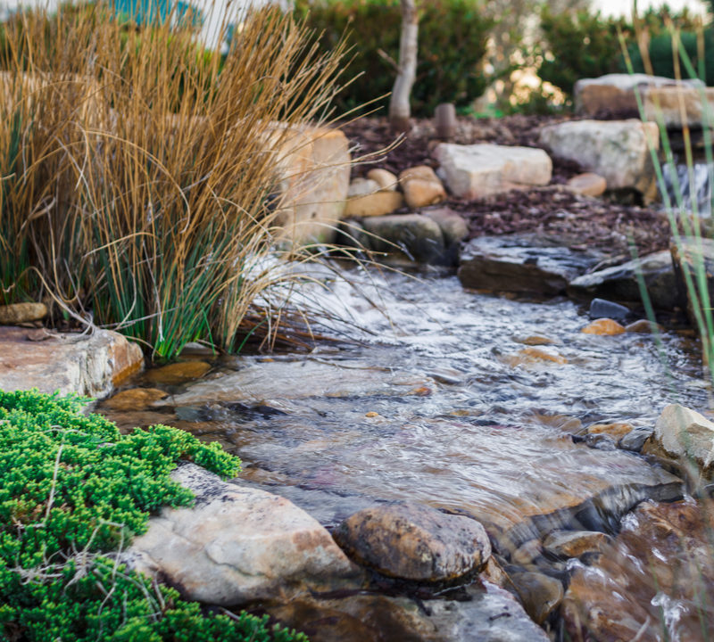 Landscaping winterization includes winterizing your water features here in Novi, MI.