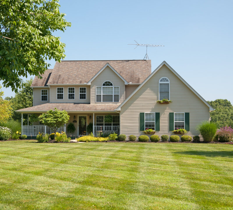 home with large front yard